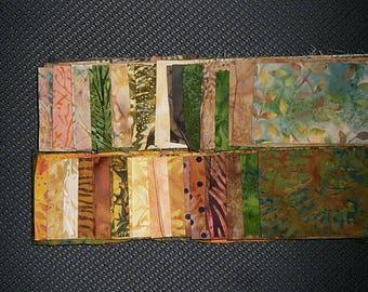 40 PC Set - OASIS Cotton Batik Jelly Roll Strips