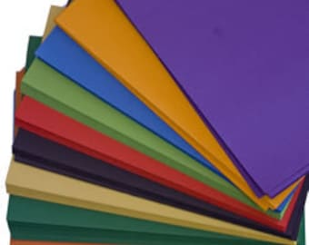 Recycled A5 Intensive Colour Craft Card Mix 180gsm Ten Intensive Colour Card Stock Choose Quantity