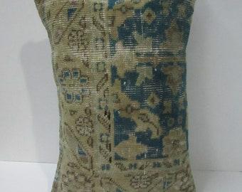 Blue Rug pillow cover,15''x20''-37x52cm,homedecor rug pillow case,sofadecor pillow cover,handmade rug cushion cover,cushion cover, H22