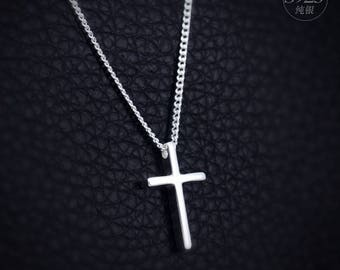 Religious jewelry pendants necklace pendants cross with Jesus from 925 silver 35x22mm Nl8qL