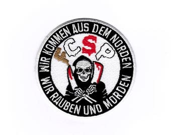 """St Pauli Patch of patch patch badge """"We come from the North we Rob and murder"""""""