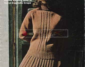 Lady's Jumper Suit 34-38in Jaeger 4105 Vintage Knitting Pattern PDF instant download