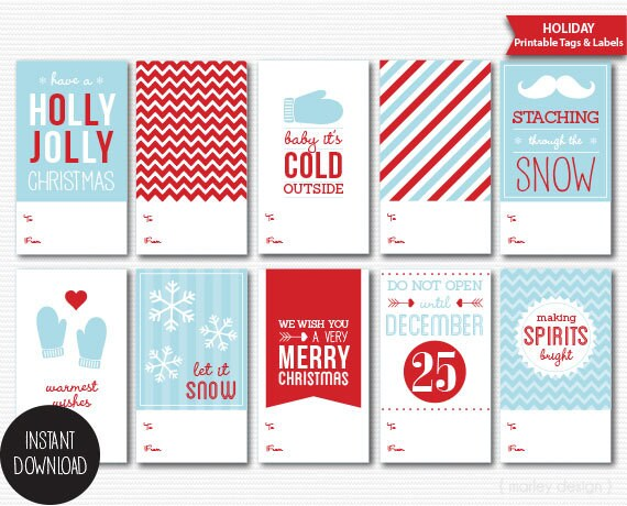 Printable christmas gift tags diy packaging holiday labels solutioingenieria Choice Image