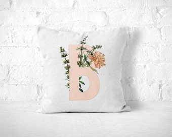 Letter B Pillow, Monogram Pillow, Personalized Pillow, Monogrammed Pillow, Initial Pillow, Monogram Cushion, Nursery Throw Pillow, Letter B
