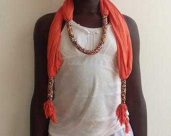 Handmade bead scarf