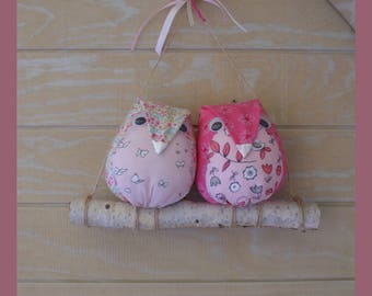 OWL on a branch of wood for girl's room.