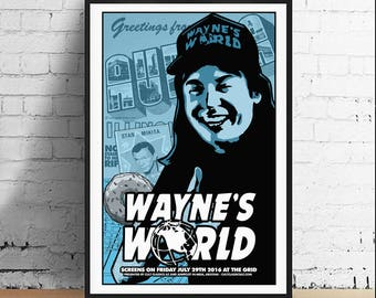 Wayne's World Wayne Campbell SNL Cult Comedy Movie Mike Myers 11 x 17 Movie Art Print Poster