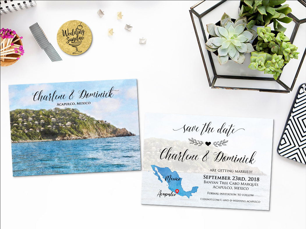 Digital Printable Invitations Files Destination Wedding