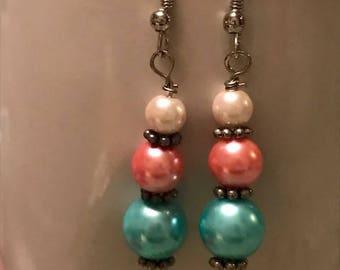 Triple Beaded Earrings - Item #E113