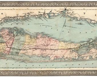 Long Island, Long Island Map, Map Long Island, Island Map, Travellers Island, 1866 Map, Long Map, Map Island, Island Long, Map Long, Old Map