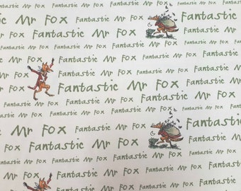 "54"" Roald Dahl Fabric ,FANTASTIC MR.FOX Fabric 100% Cotton, Sold by the yard"