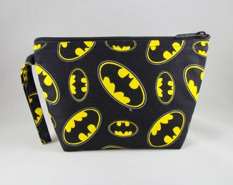 Calling Batman Makeup Bag - Accessory - Cosmetic Bag - Pouch - Toiletry Bag - Gift