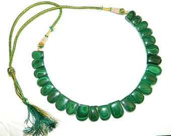 Natural Malachite Necklace //Malachite // Designer Necklace // Gemstone Necklace //Gemstone Collar Necklace// Sale // Malachite