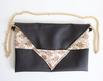 Grannies tablecloth clutch bag