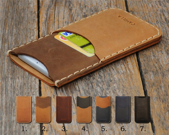 Fairphone 2 PERSONALIZED ENGRAVED Case Handmade Cover Leather Shell Wallet Sleeve Vintage Style Custom Sizes