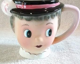 Miss Priss Vintage Lady Face Mug