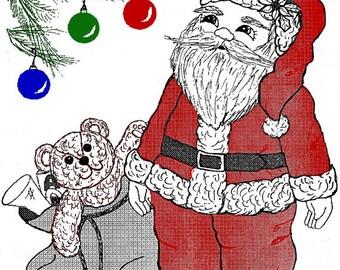 Judi Ward Original Design - Mr. Clause, Santa Doll ~ Cloth Doll  Making E-Pattern - Download Sewing Pattern