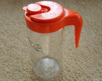 Vintage Tang Glass Pitcher, Advertising Item, Tang Juice Pitcher
