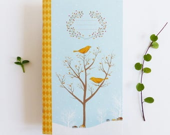 40 pages Notebook - Winter Tree