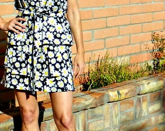 Bridesmaid Dress-Short Bridesmaid Dress-Bridesmaid Dress Short-Party Dress Style-Wear Again Bridesmaid-Festive Daisy Floral-No Measurements