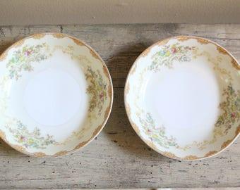 Set of Two Vintage Meito Fruit or Dessert Bowls