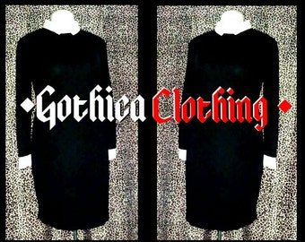 NEW GOTHICA Little Miss strange Pencil Dress: GOTHICACLOTHING