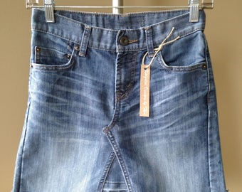 Upcycled Denim - Jean Skirt - Girls Size 10