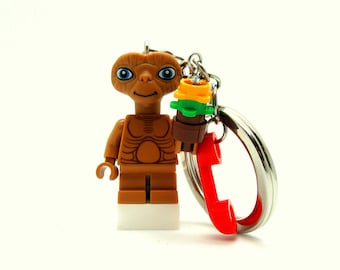 E. T.® Inspired Keychains  Fan Art - Fan Art Crafted From LEGO® Elements