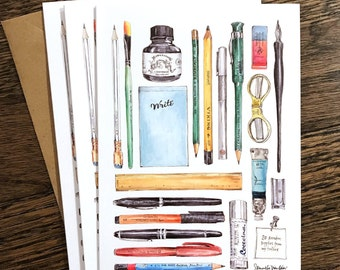 20 Supplies from my Toolbox: Set of 6 Greeting Cards