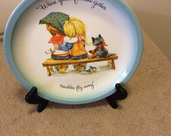 Collectors Edition Vintage GiGi Friends Plate/American Greetings Plate/GiGi Collectors Edition Collectible Plate