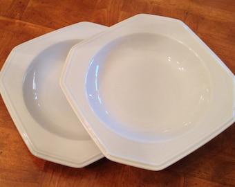 "Mikasa ""Continental White"" Set of Two Soup Bowls"