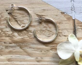 Small hoop earrings | Silver hoop earrings | Recycled silver | Recycled packaging | Ethical jewellery | Gift for her.