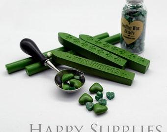 Lawn Green / Grass Green / Shimmering Grass Green Sealing Wax for Wax Seal Stamp Set