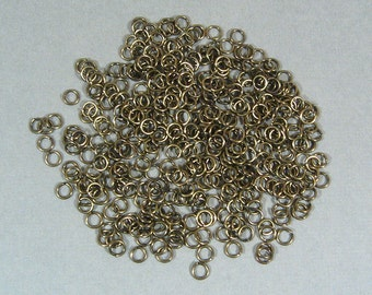 4mm Antique Brass Jump Rings