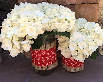 Mason Jar Wrap, Horseshoes, Western, Ranch, BBQ, Mason Jar Decoration, Baby Shower, Party, Wedding Decoration