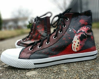 Friday the 13th Jason Hand Painted Converse