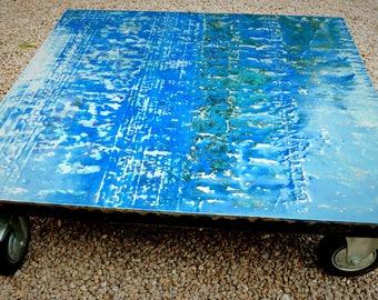 Handmade Upcycled Vintage Oil Drum Pallet Coffee table