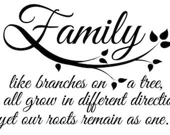 Family Tree Quote-PDF-JPG File-Quotes SVG-Svg Files-Cricut Files-Camo-Silhouette