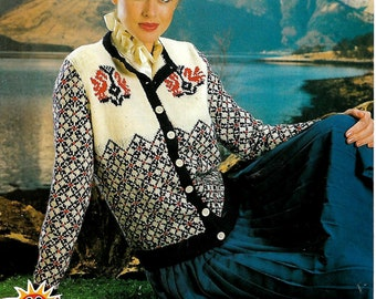 LISTER LEE 1660 Ladies Cardigan Original Vintage Knitting Pattern