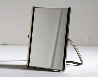 Little Vintage Shaving Mirror with Calendar Promotional Advertising 1960s 1970s Vanity Swivel Stand