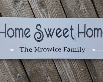 Customizable Home Sweet Home sign