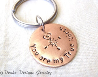 You are my True North keychain
