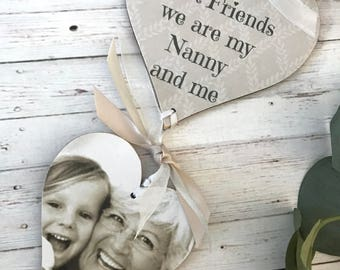Personalised Grandma/Mummy Photo Heart Gift