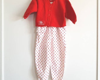 Vintage Red and White Outfit