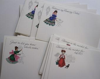 27 vintage postcards - retro, correspondence - Post A Note cards