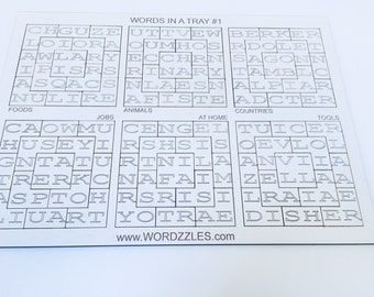Wordzzles - Word Puzzles in a Tray - Literacy Challenges