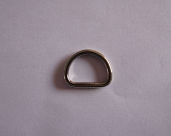 silver buckle, half circle buckle, strap buckle 27mmx21mm, pack of 2