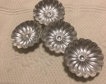 Aluminum 7 flower jello molds