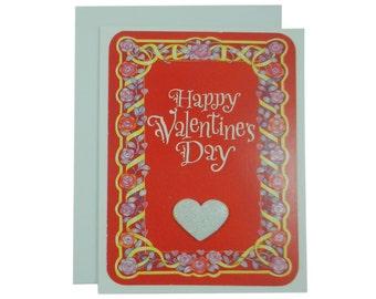 Valentine's Day Card Handmade Valentine Card Valentines Day Gift Valentine Greeting Valentine for Wife Husband Valentine Single Card