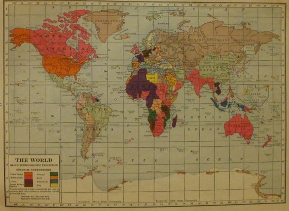 World mapworld map artvintage map north south america te gusta este artculo gumiabroncs Choice Image